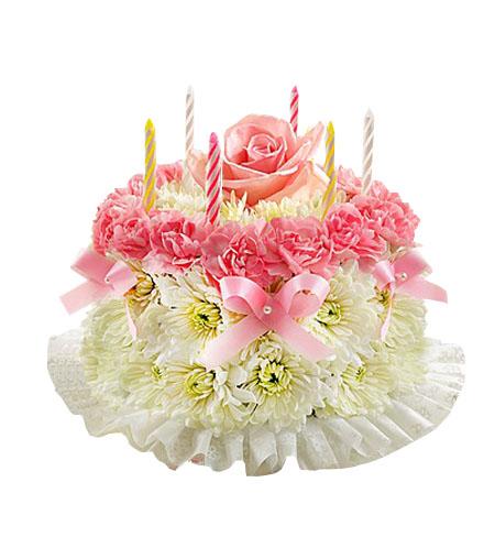 Flores De Cumpleaños 03 Torta
